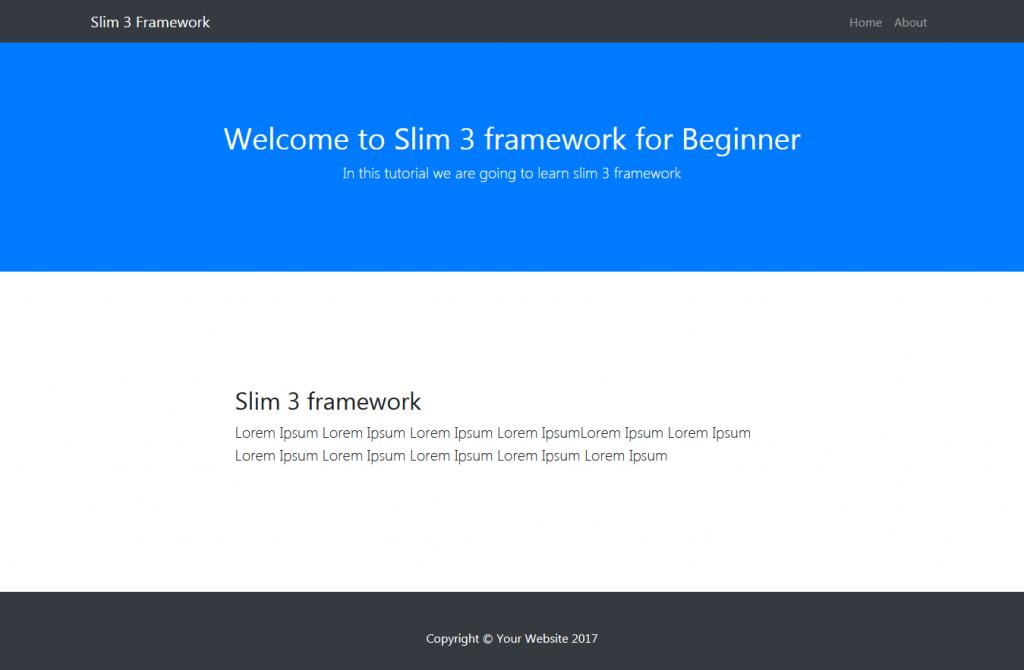 Slim 3 Framework homepage