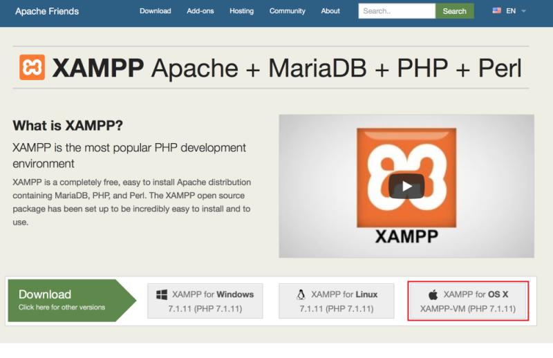 download xampp-vm for mac os x