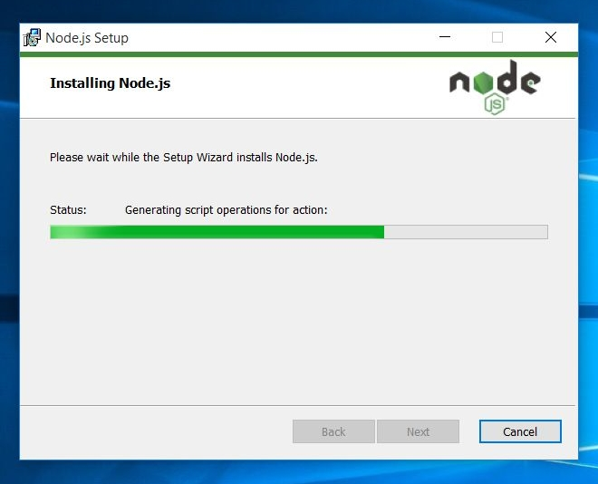 installing node.js on windows 10