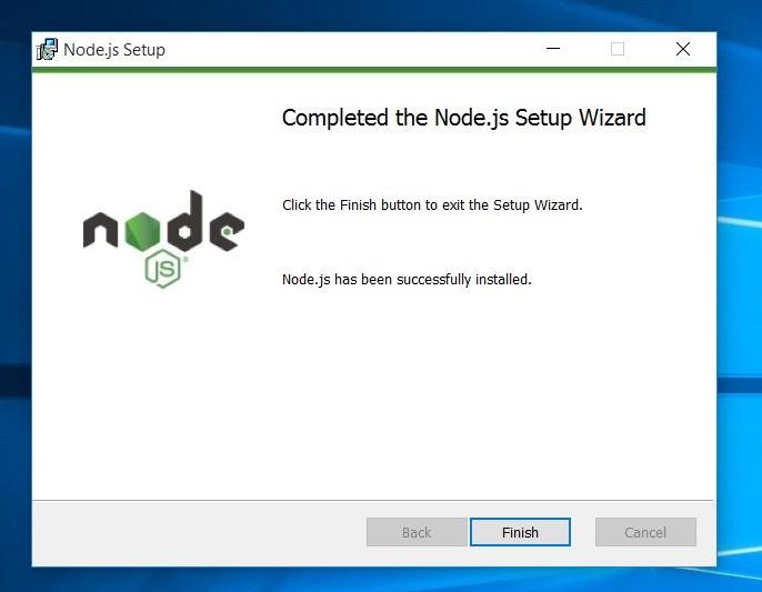 node.js setup complete