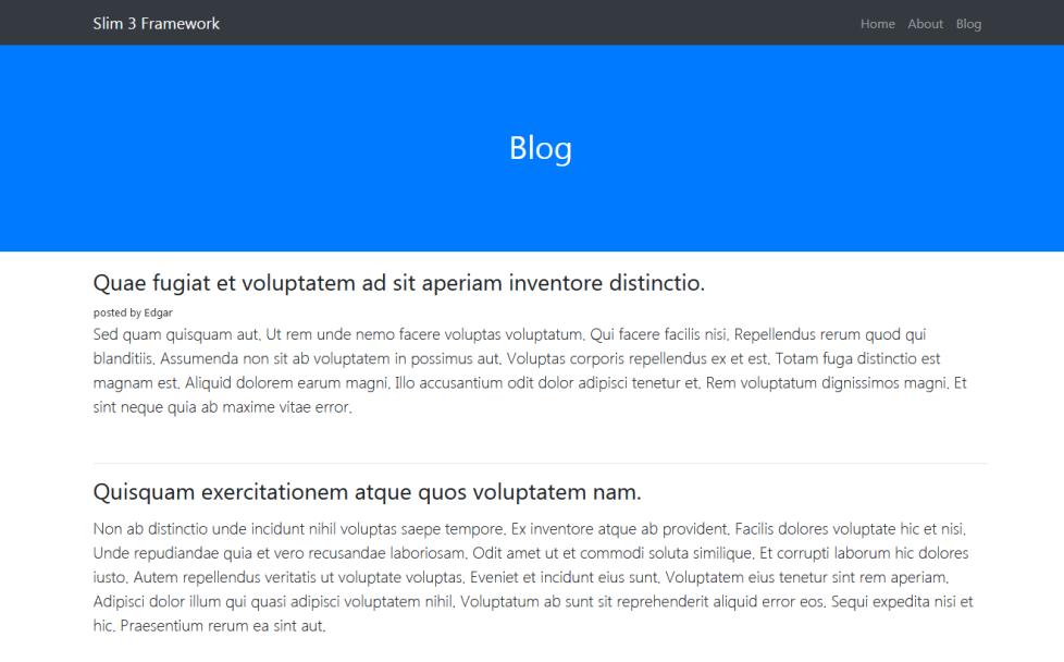slim 3 framework tutorial database