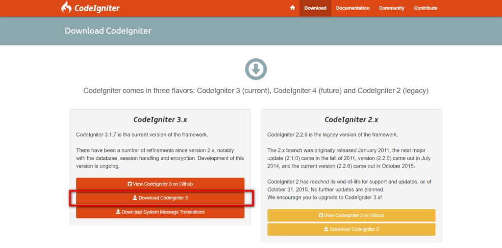 download codeigniter
