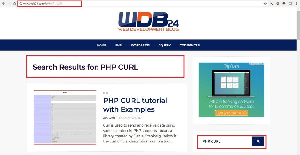 php curl get parameters