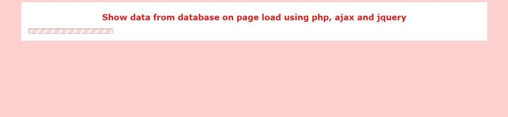 showing ajax loader